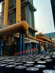 山东聊城东泰农化导热油系统清洗工程结束